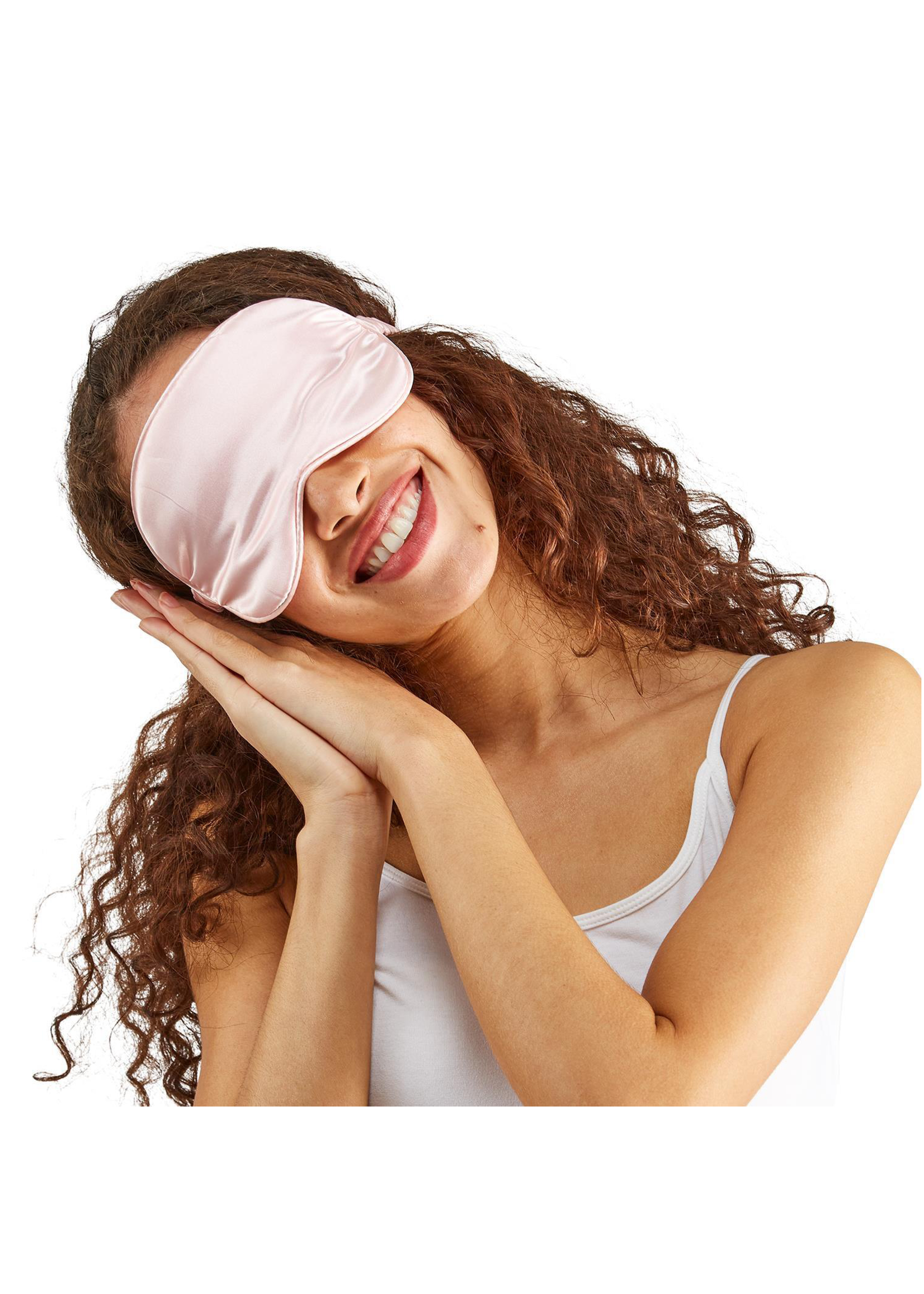 Two's Company, Inc. Rose Satin Pillowcase and Eye Mask Set In Gift Box