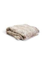 Two's Company, Inc. Plush Snow Leopard Faux Fur Throw