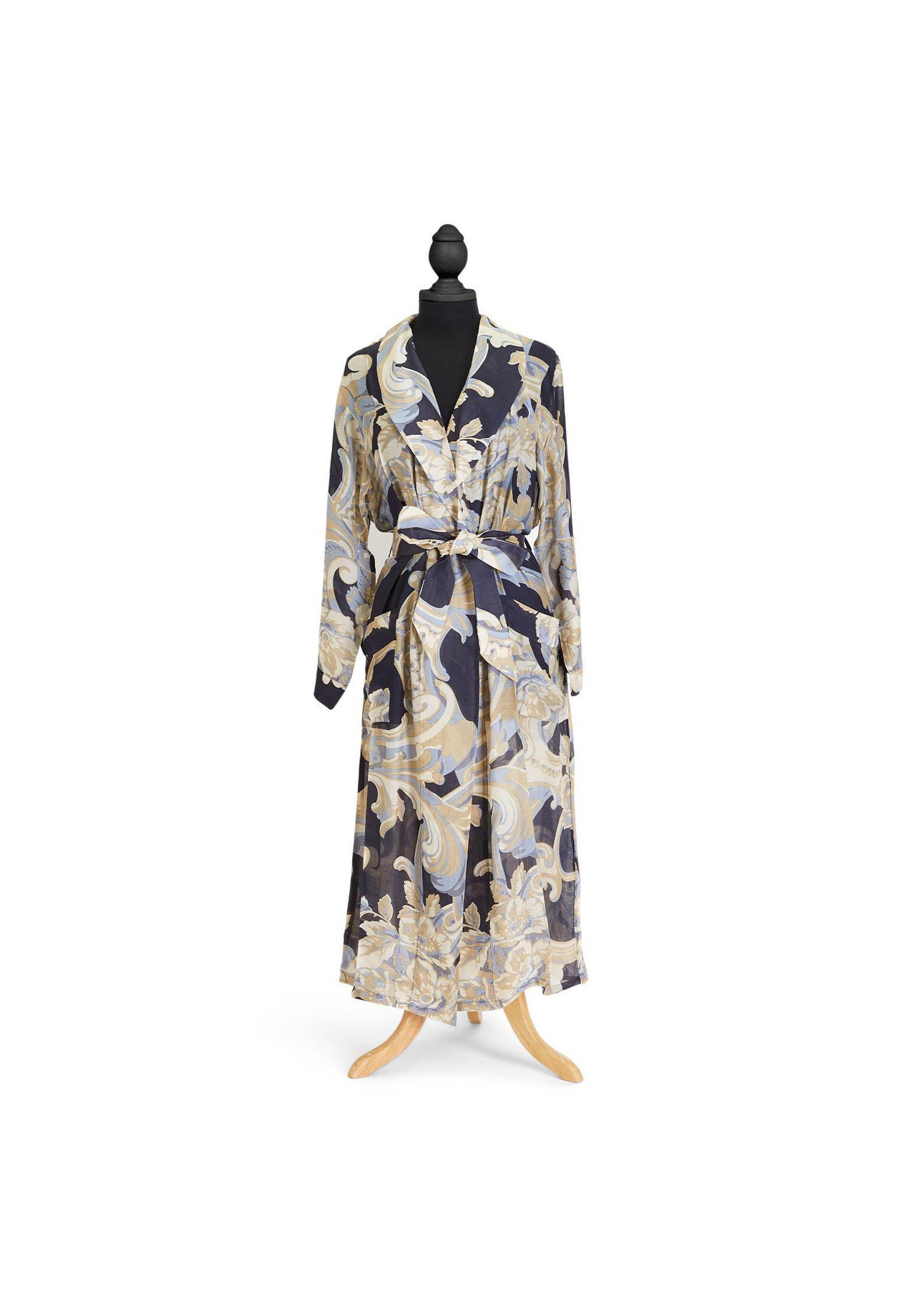 Two's Company, Inc. Blue Roses Robe Gown