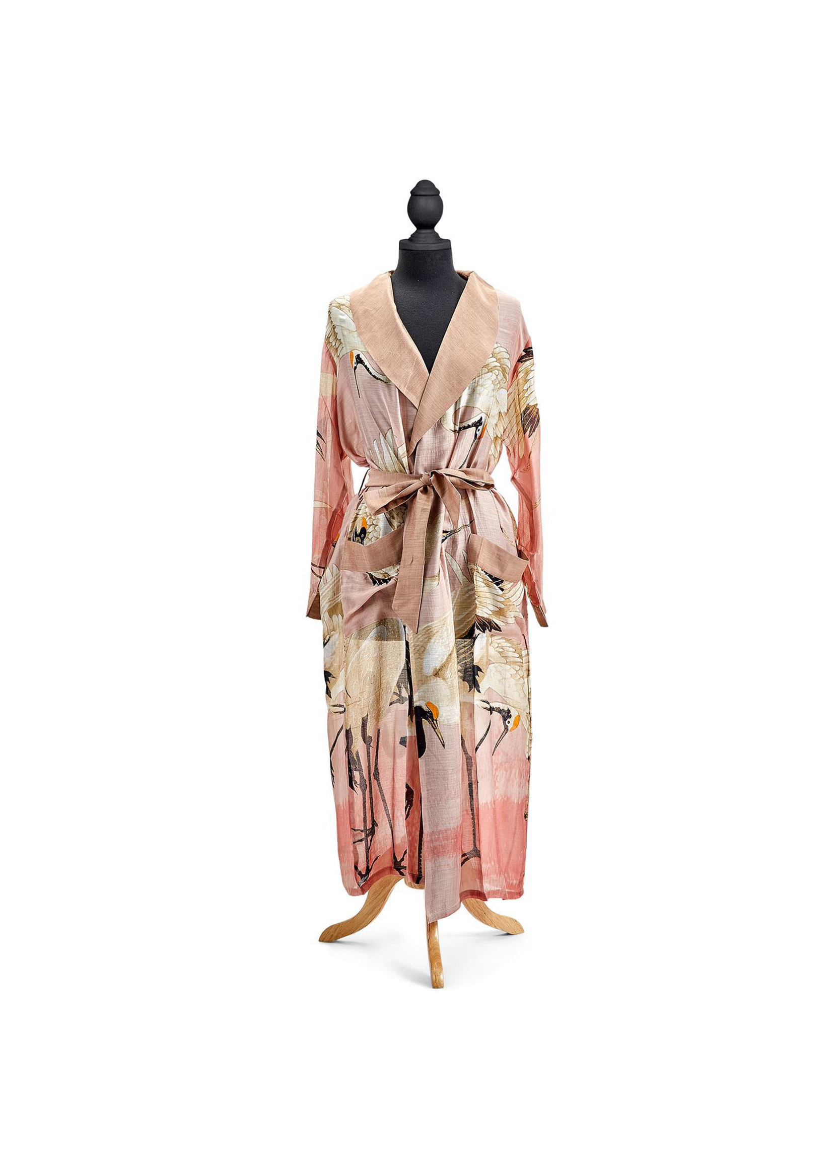 Two's Company, Inc. Pink Heron Robe Gown