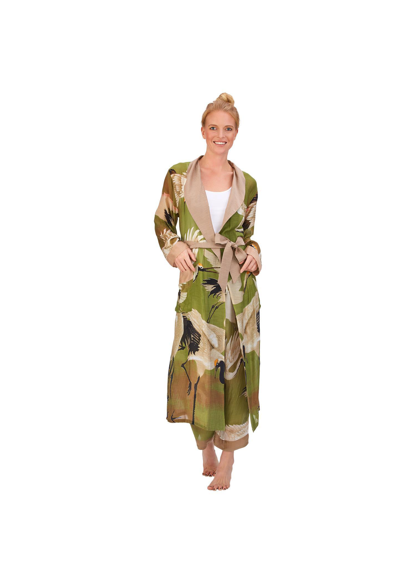Two's Company, Inc. Heron Robe W/ Removable Tie