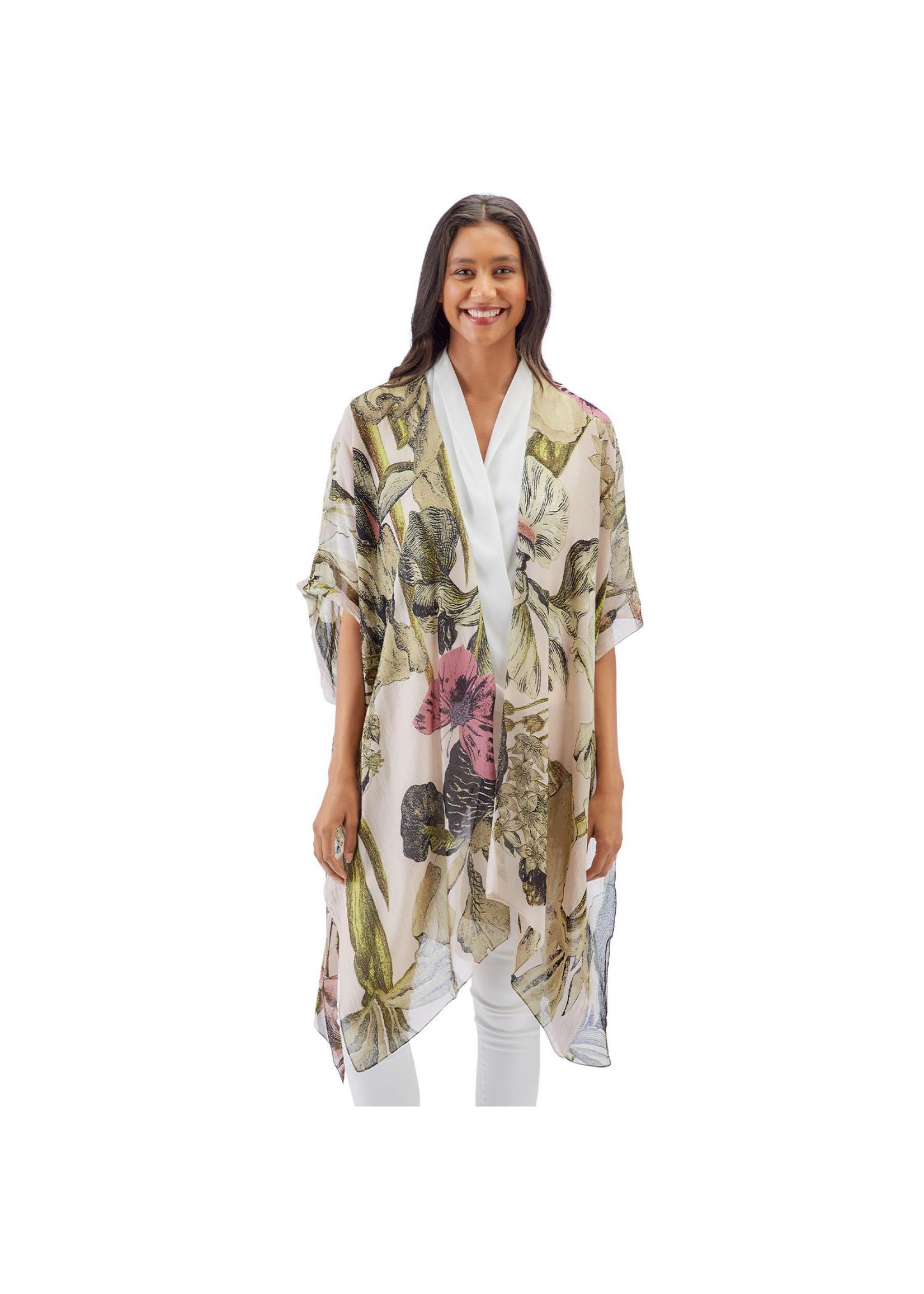 One Hundred Stars Blush Iris Long Kimono