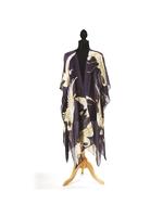 One Hundred Stars Heron Charcoal Long Kimono