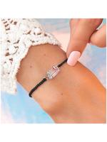 puravida bracelets Mermaid Quartz Silver Bracelet Black