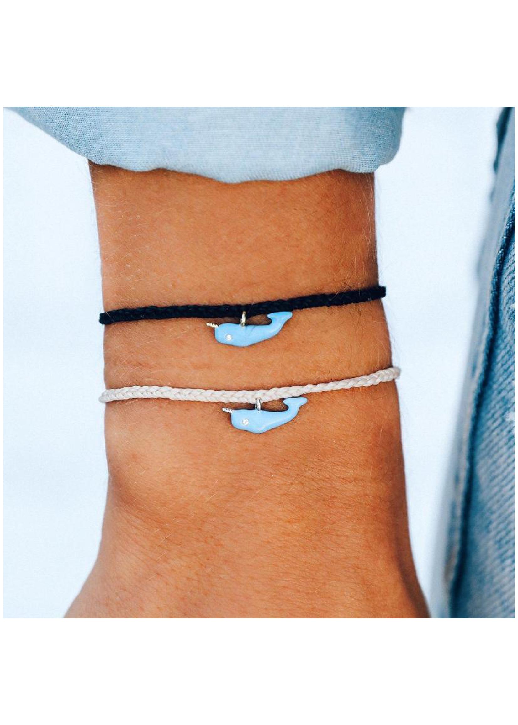 puravida bracelets Narwhal Silver Vanilla