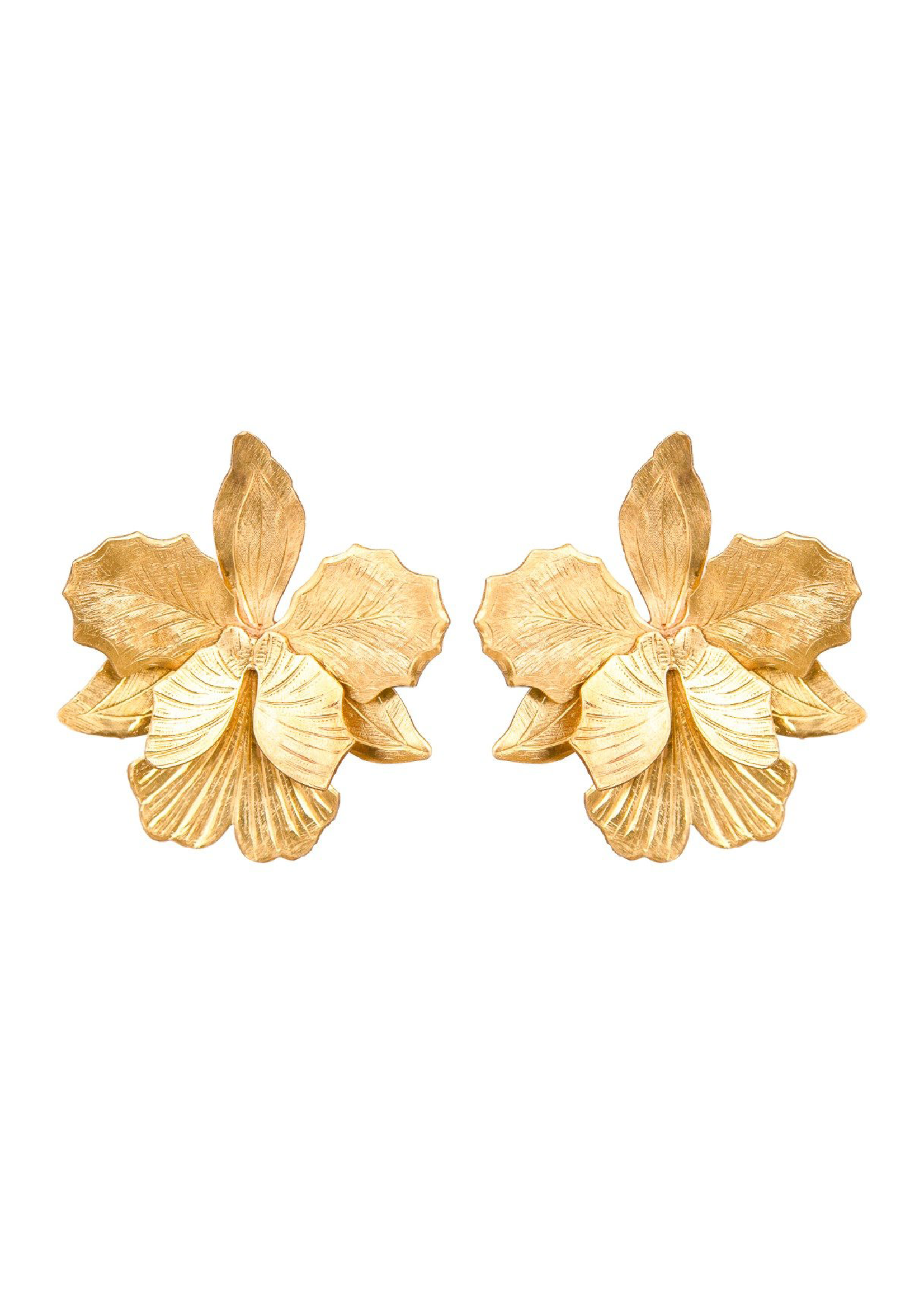 We Dream In Colour Little Laelia Orchid Earrings