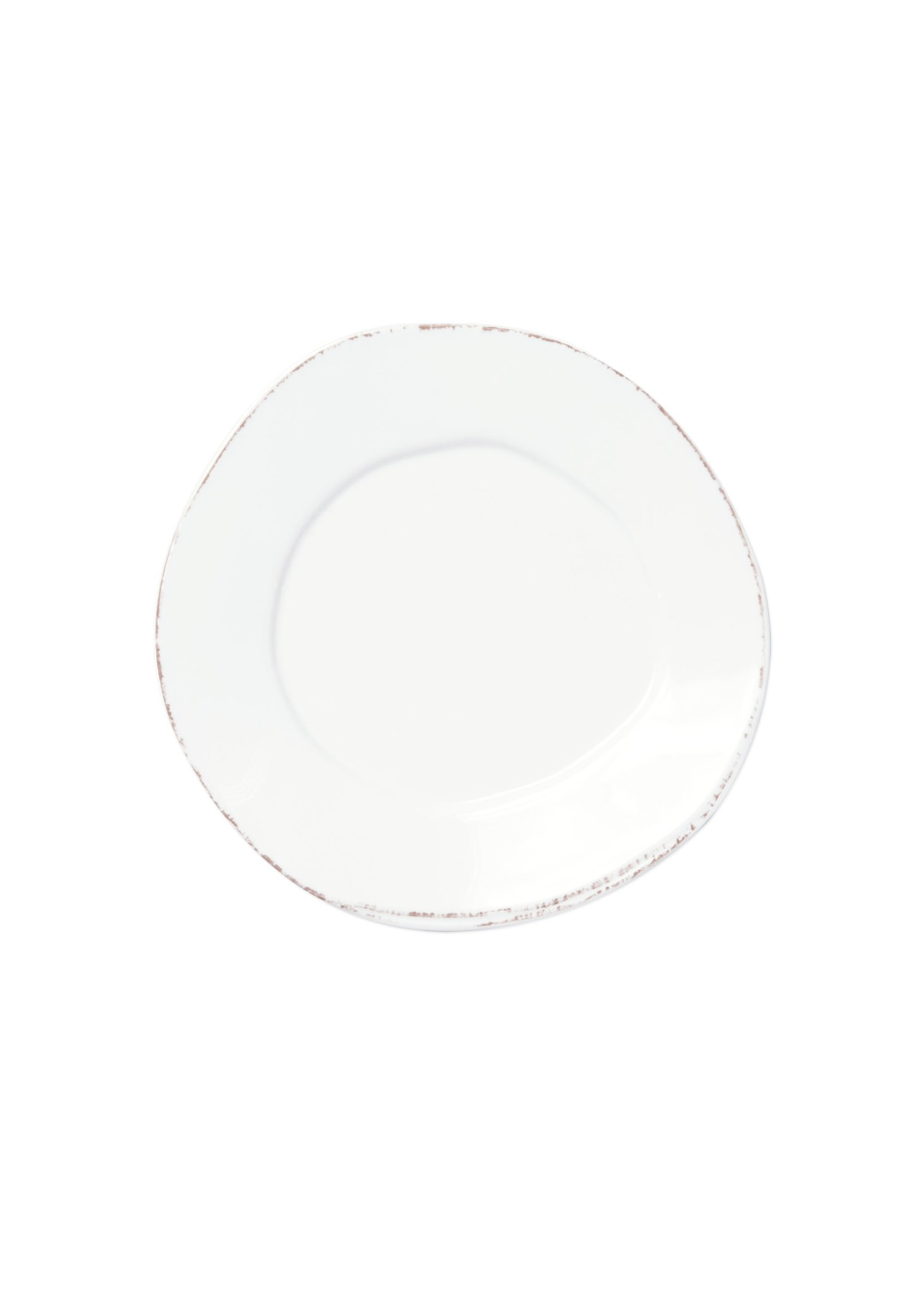 Vietri Lastra Melamine White Salad Plate