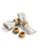 Two's Company, Inc. Cane Napkin Rings, Set of 4