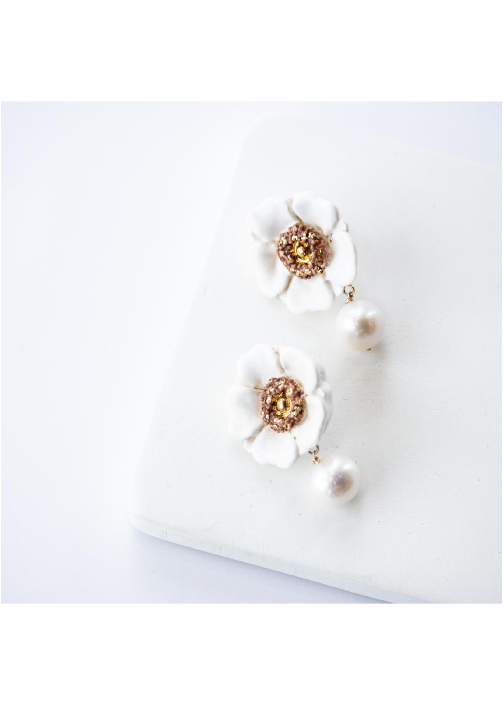 Susan Gordan Wild Swan Earrings White