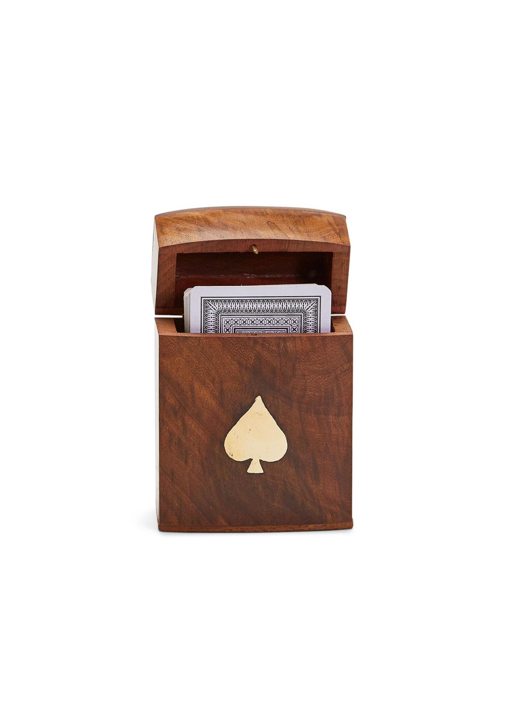Two's Company, Inc. Wood Crafted Playing Card Set in Wooden Box