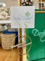 Darby Drake GF Hoop & Sterling Bar Ball Earrings, 14k gold filled
