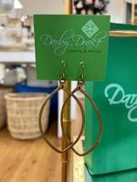 Darby Drake Medium Marquis Earring, Brass