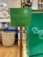 Darby Drake Small Oval & Hoop Earring, Brass