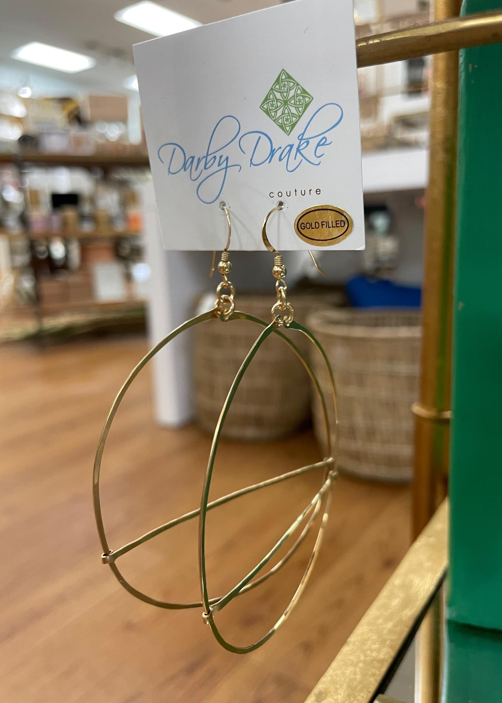 Darby Drake Large GF Hoop & Bar Earring, 14k Gold Filled
