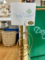 Darby Drake Medium GF Hoop & Bar Earring, 14k Gold Filled