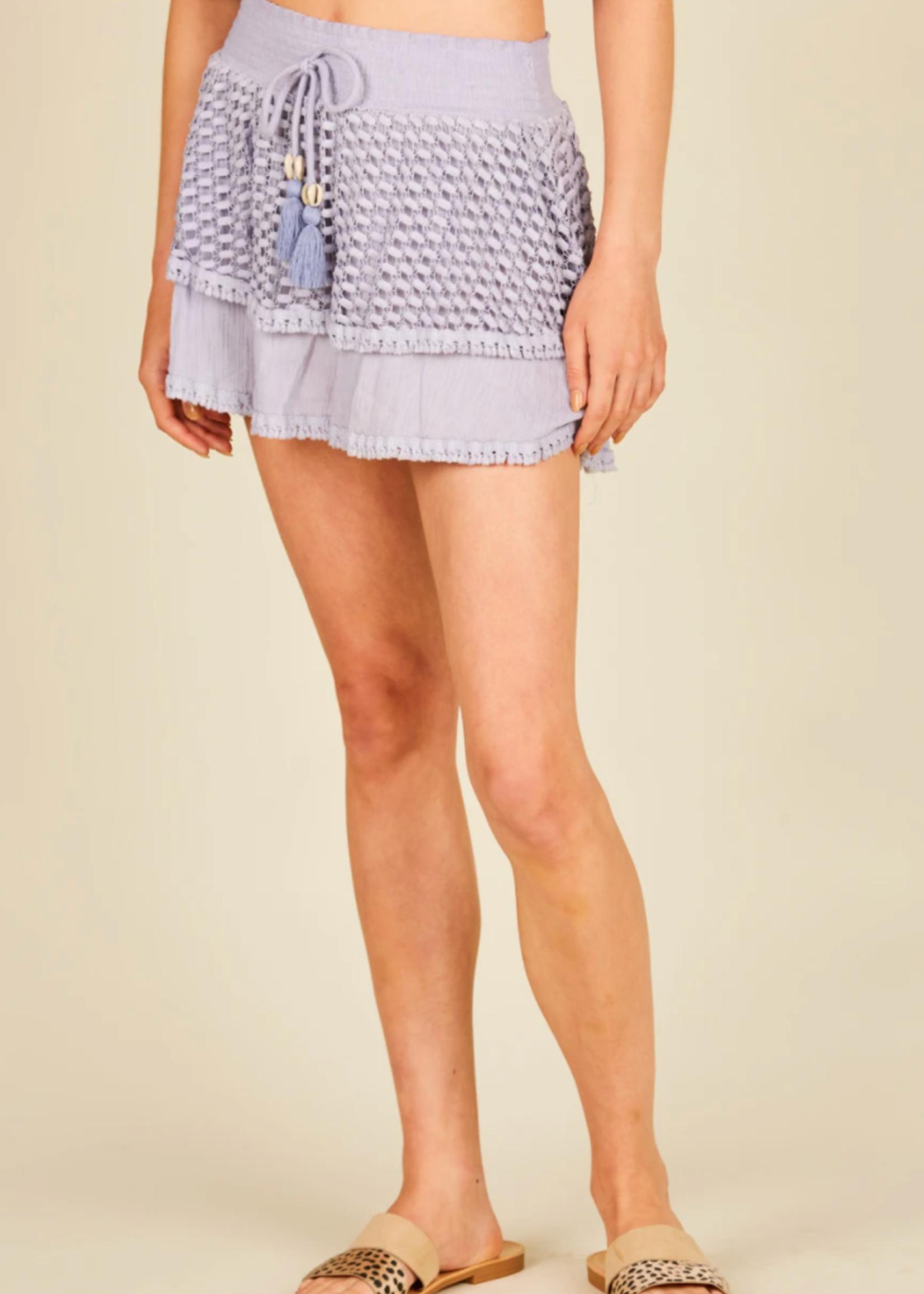 Surf Gypsy Dusty Lavender Layer Skirt