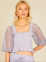 Surf Gypsy Dusty Lavender Eyelet Top