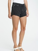 Pistola Black Cuffed Distressed Shorts