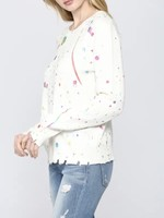 Fate Cream Splatter Paint Sweatshirt