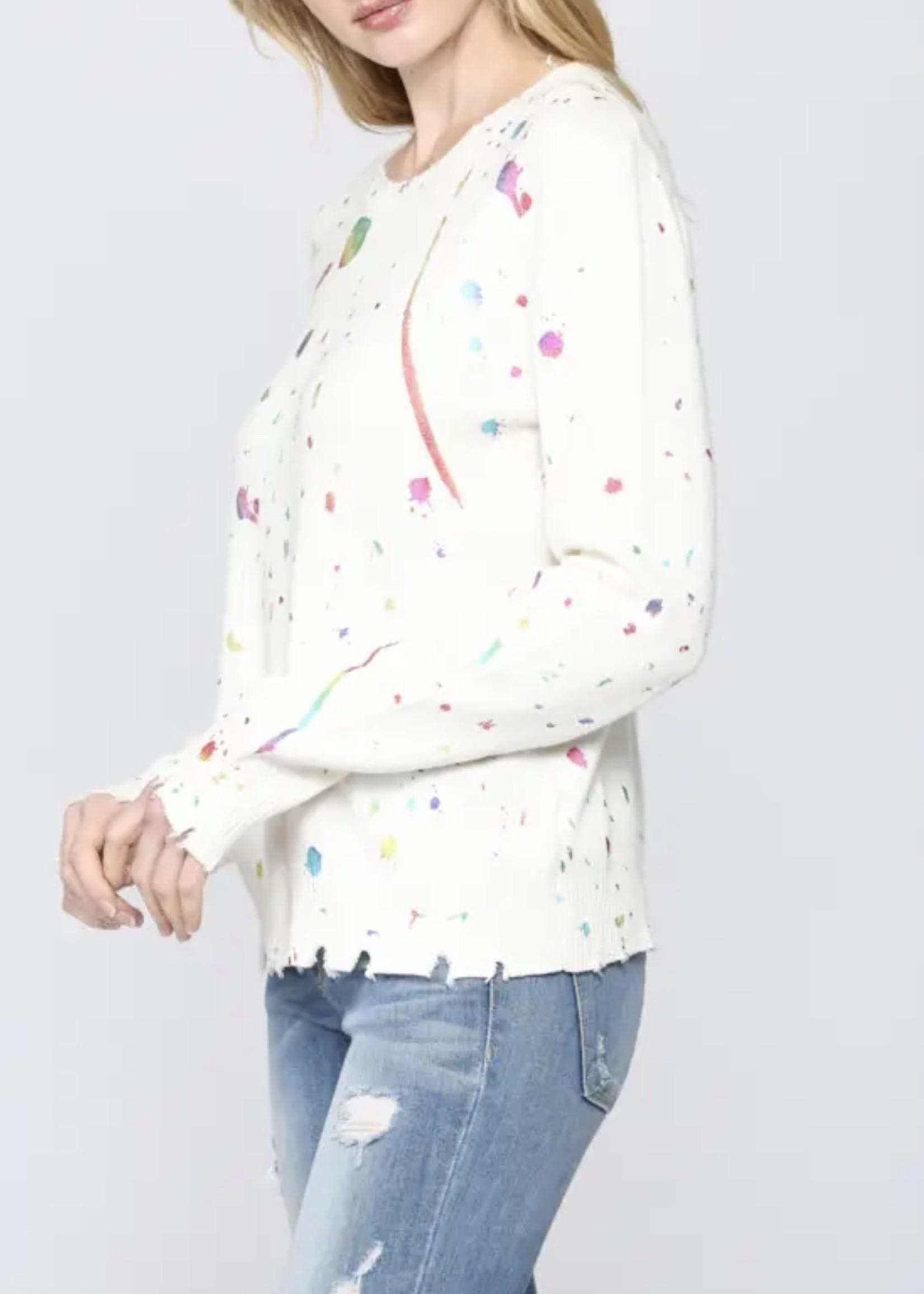 Fate Cream Splatter Paint Sweatshirt