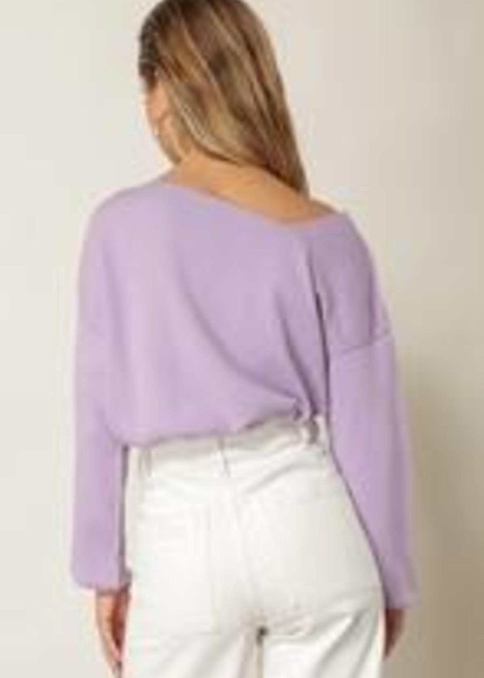 Line & Dot Asymmetric Sweater