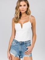 Fanco White Bodysuit