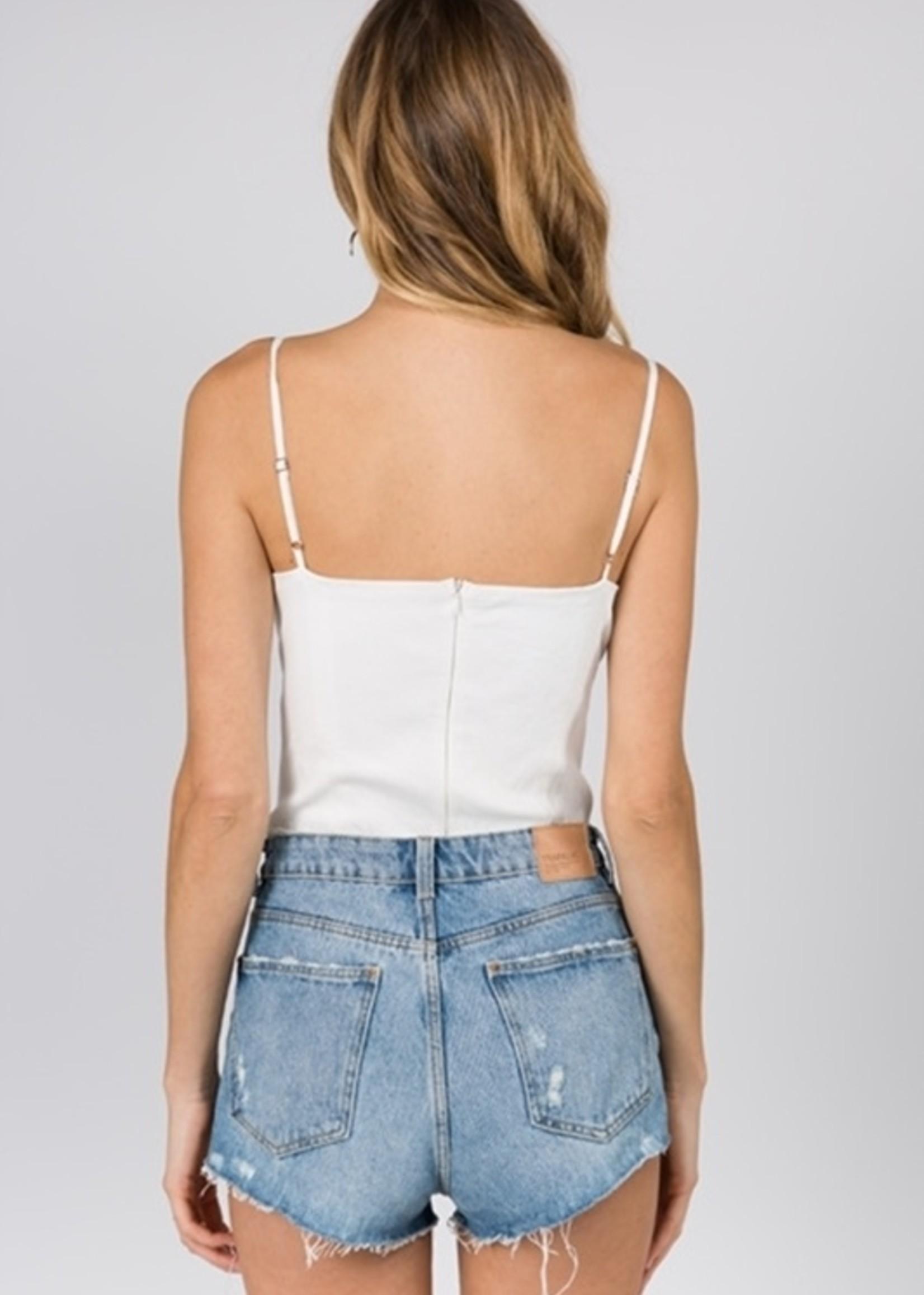 Fanco White Bodysuit