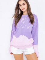 Le Lis Purple Tie Dye Sweatshirt