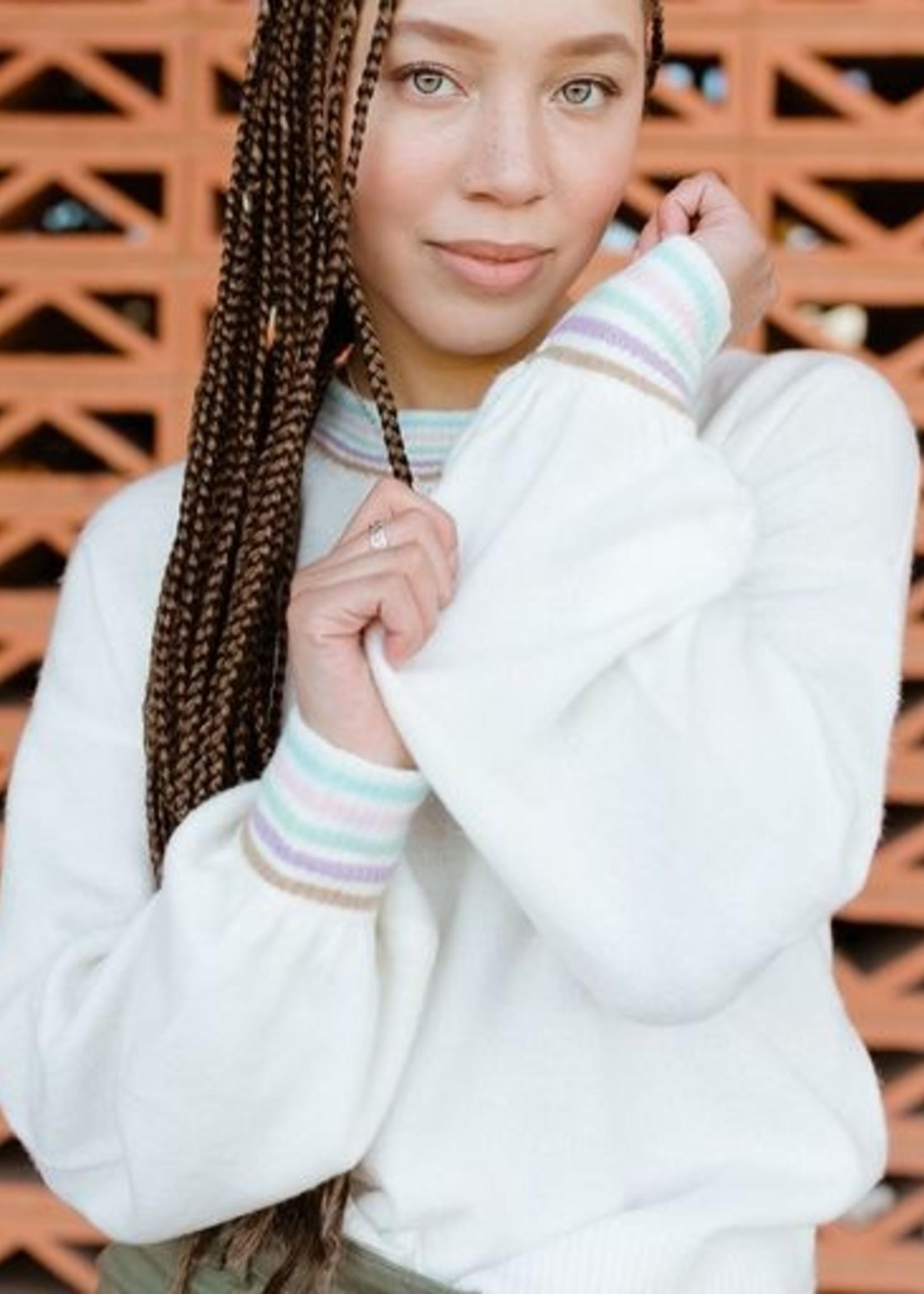 Harper Wren Cream Pastel Sweater