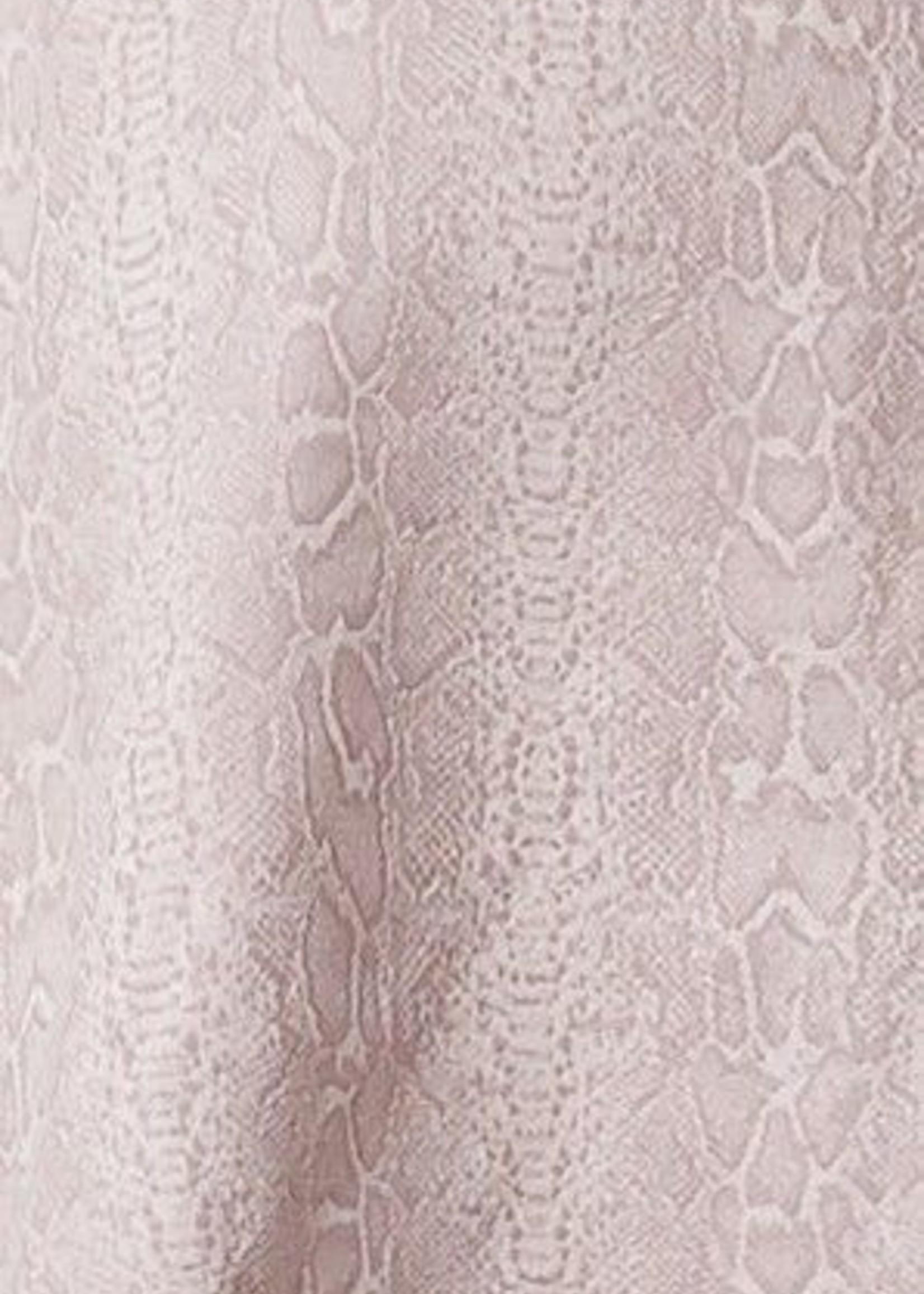 Harper Wren Blush Snake Print Crop