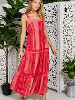 Sage the Label Red Striped Maxi Dress