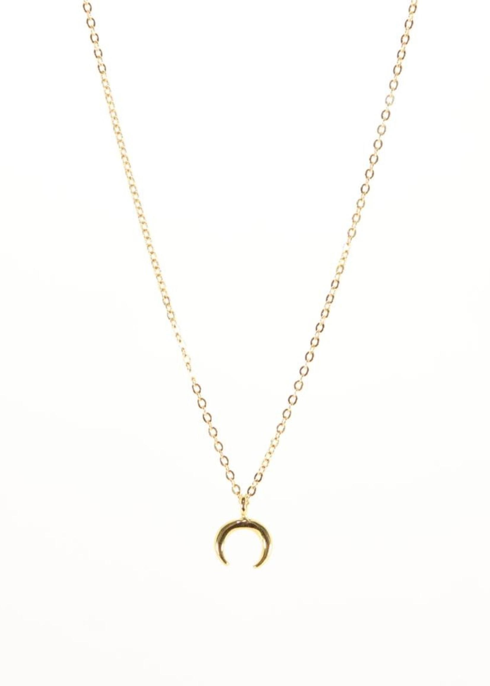 B.B.Lila Crescent Moon Necklace
