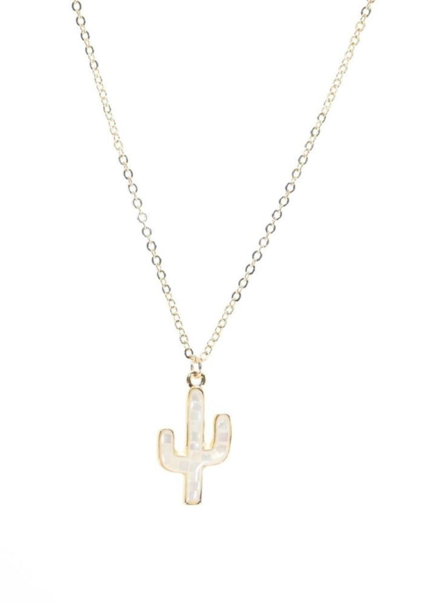 B.B.Lila Opal Cactus necklace