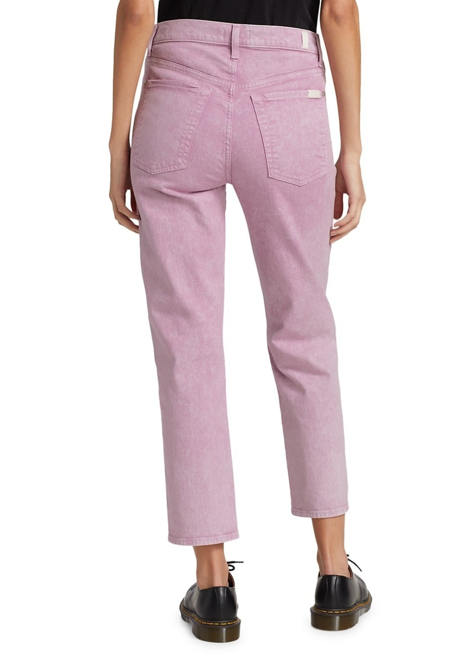 7 for all mankind Lavender Washed Cropped Jean