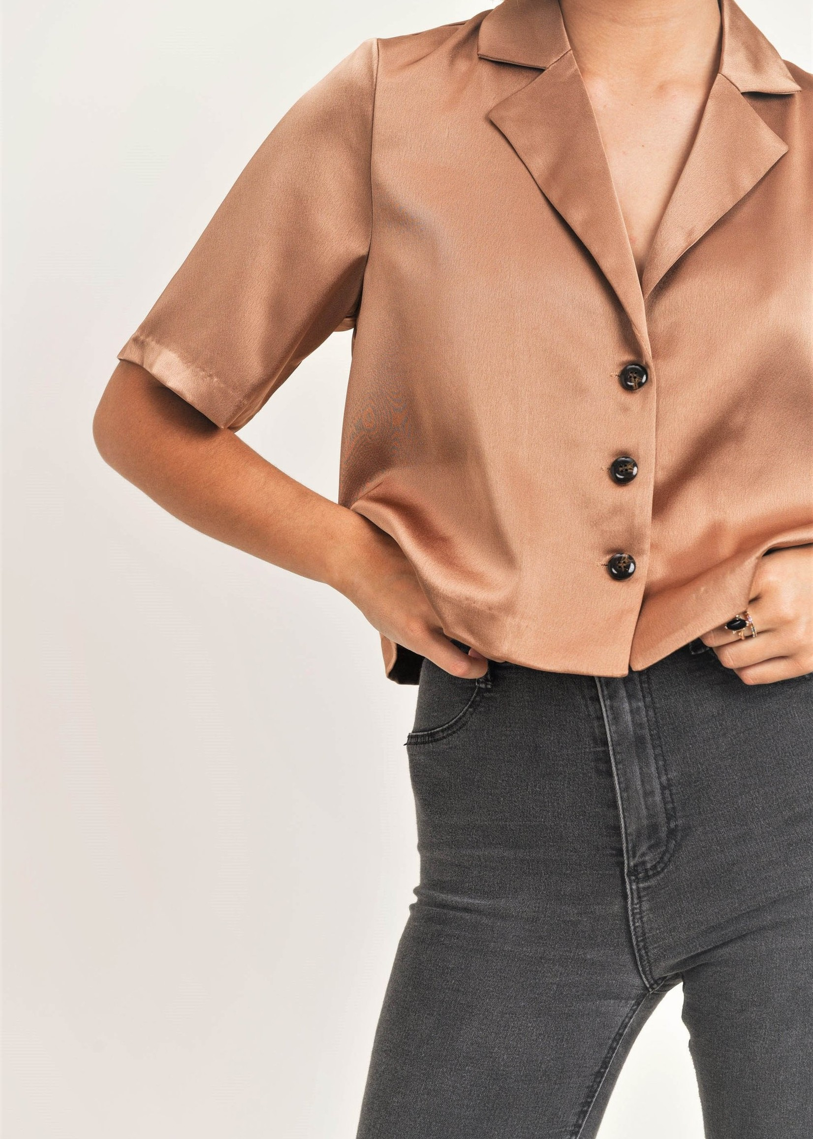Reset by jane Silky Cropped Blouse