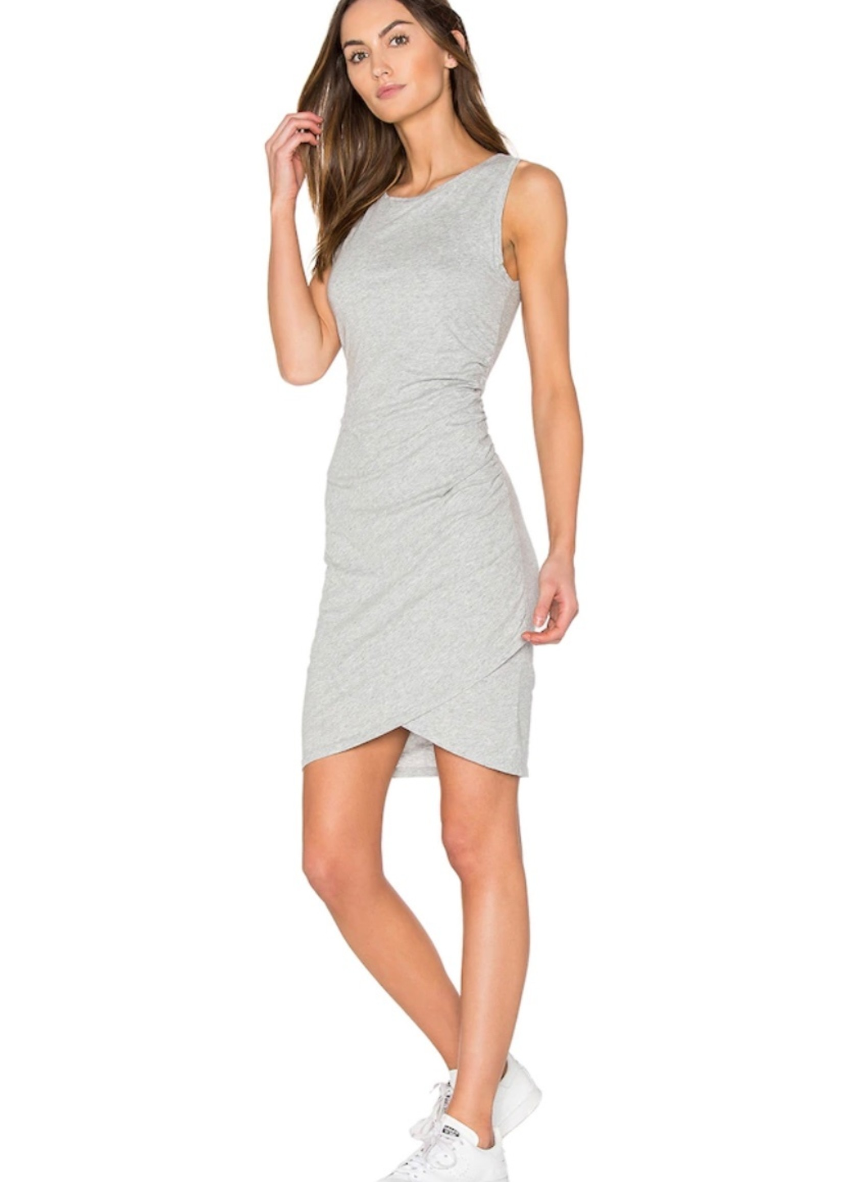 Bobi Grey heather tank dress