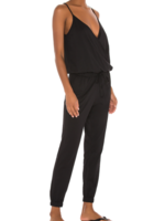 Bobi Black Surplice Jumpsuit