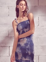 Storia Tie Dye Smocked Dress
