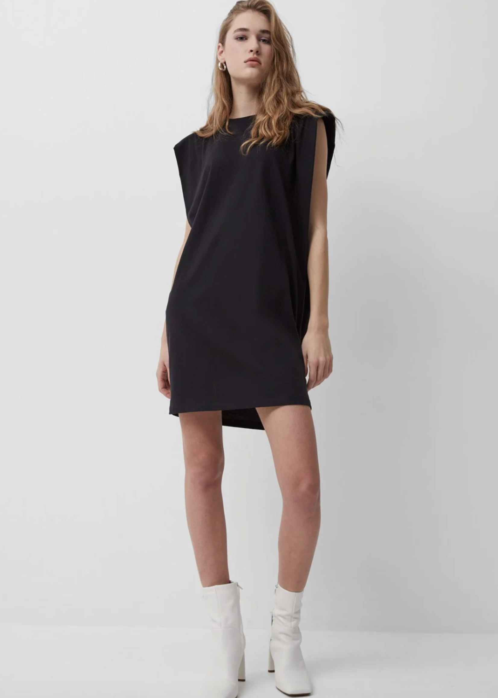 French Connection Padded Jersey Dress