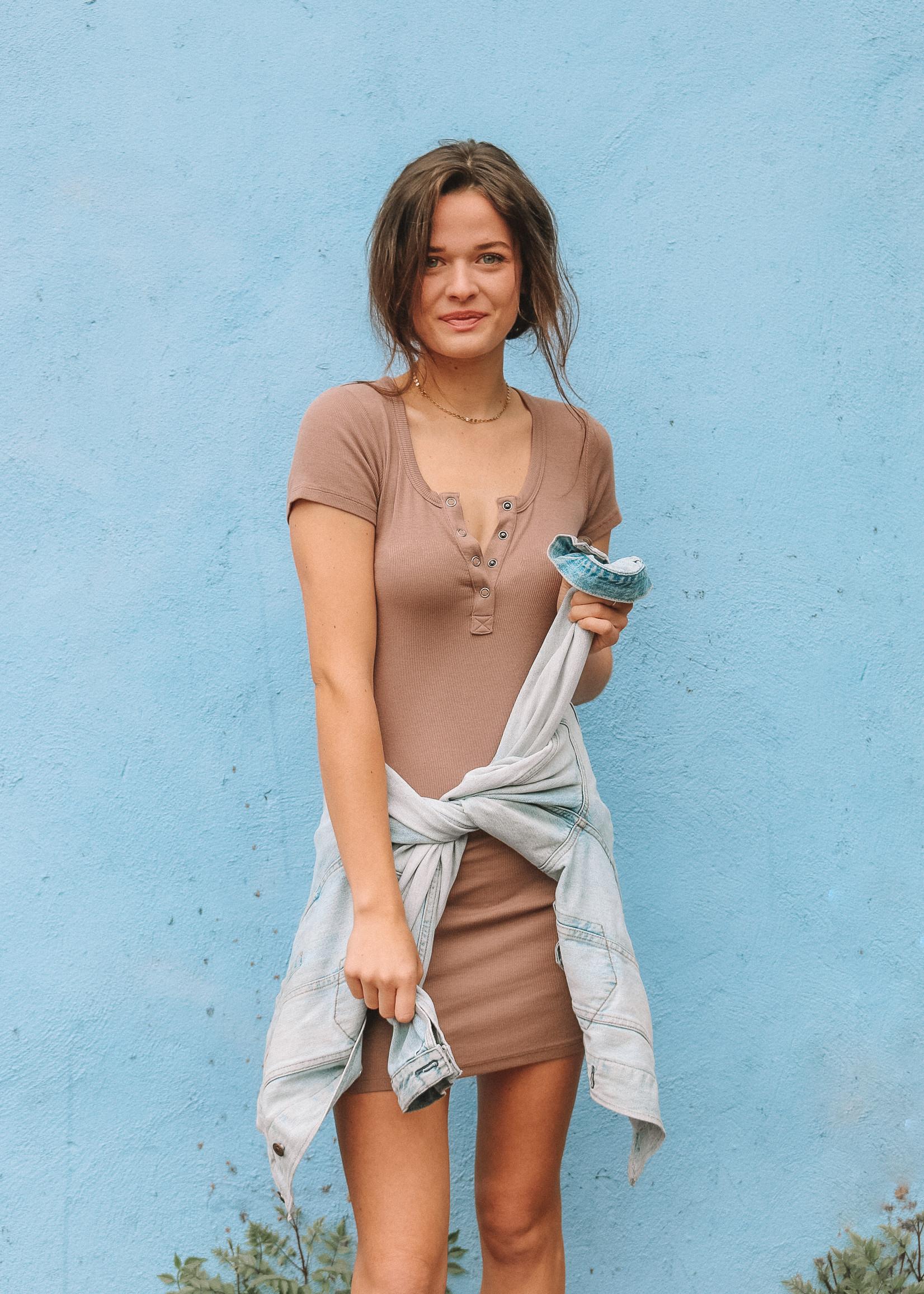 Bobi Front placket dress