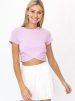 Le Lis Lavender Crop Top