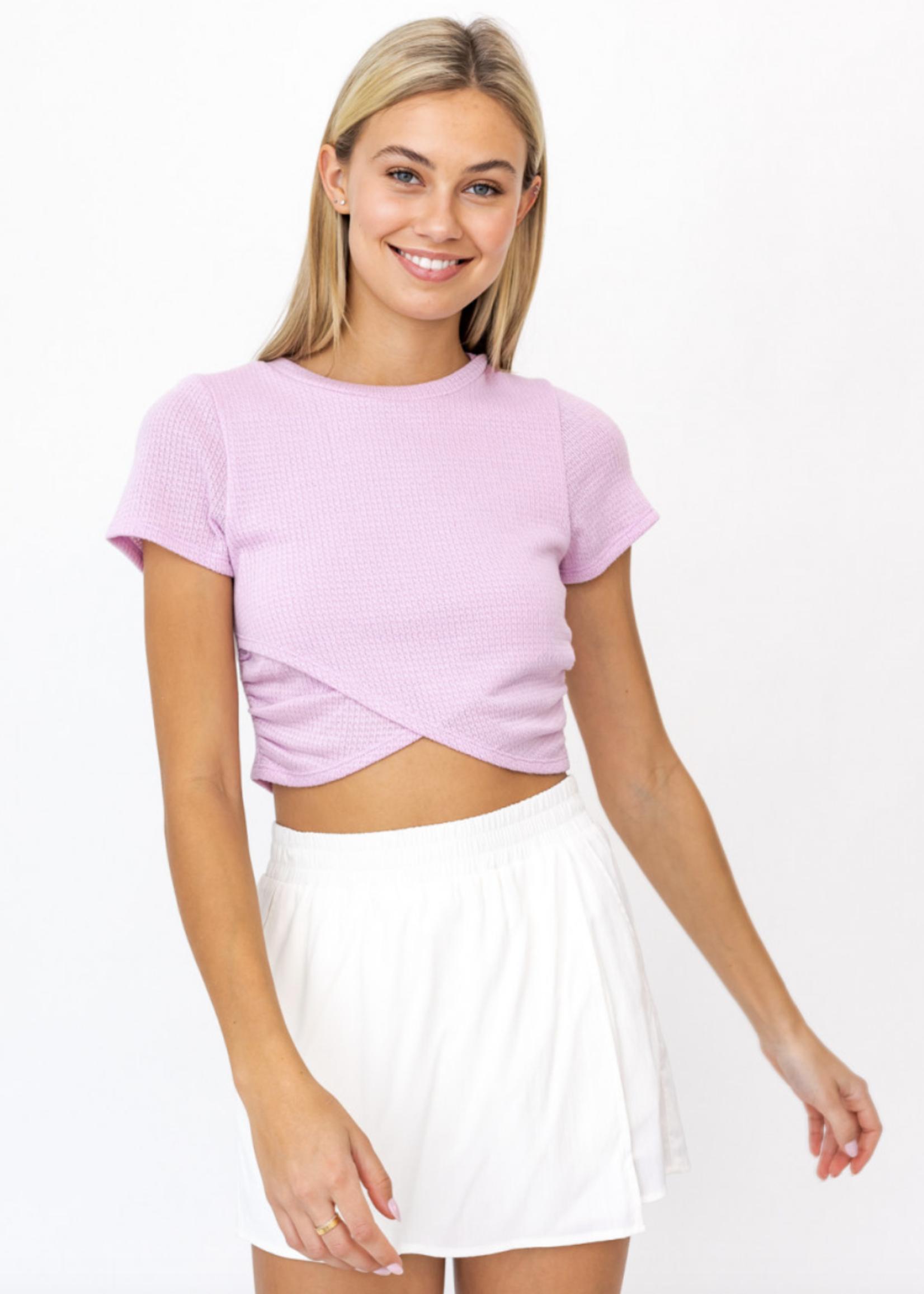 Le Lis Lavender Crop Top