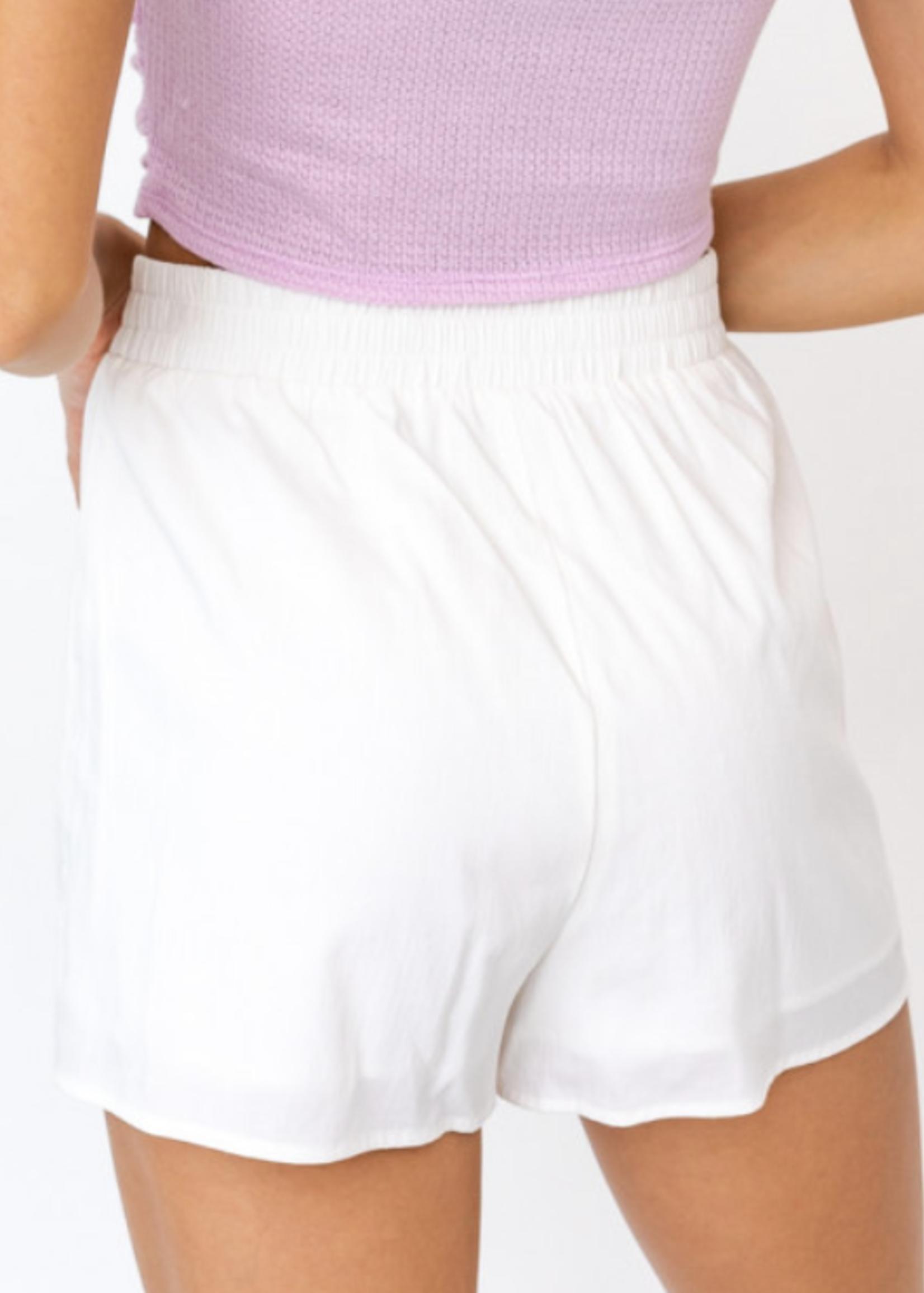 Le Lis White Pleated Wrap Skirt