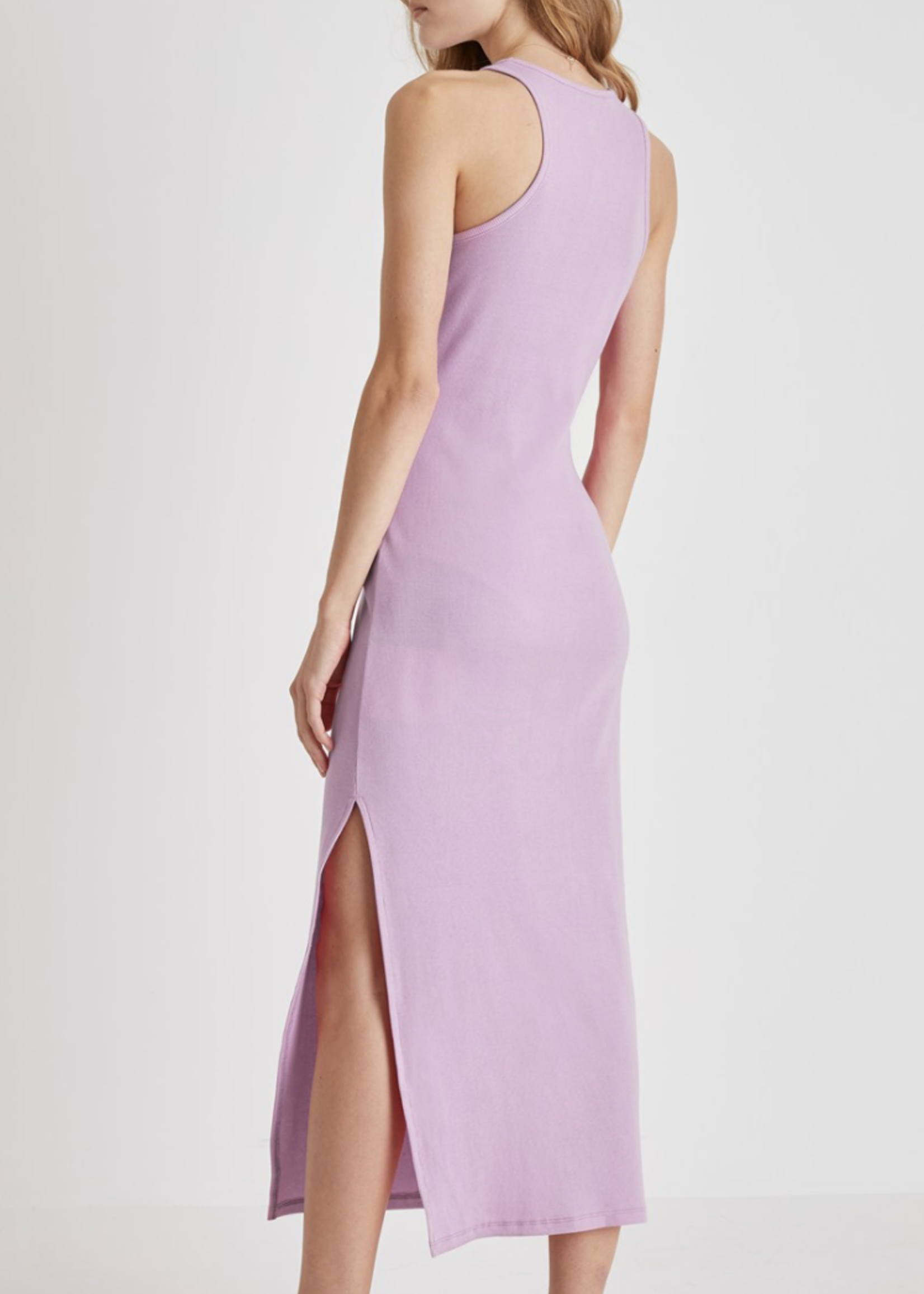 French Connection Rasha Ribbed Jersey Racer Back Dress