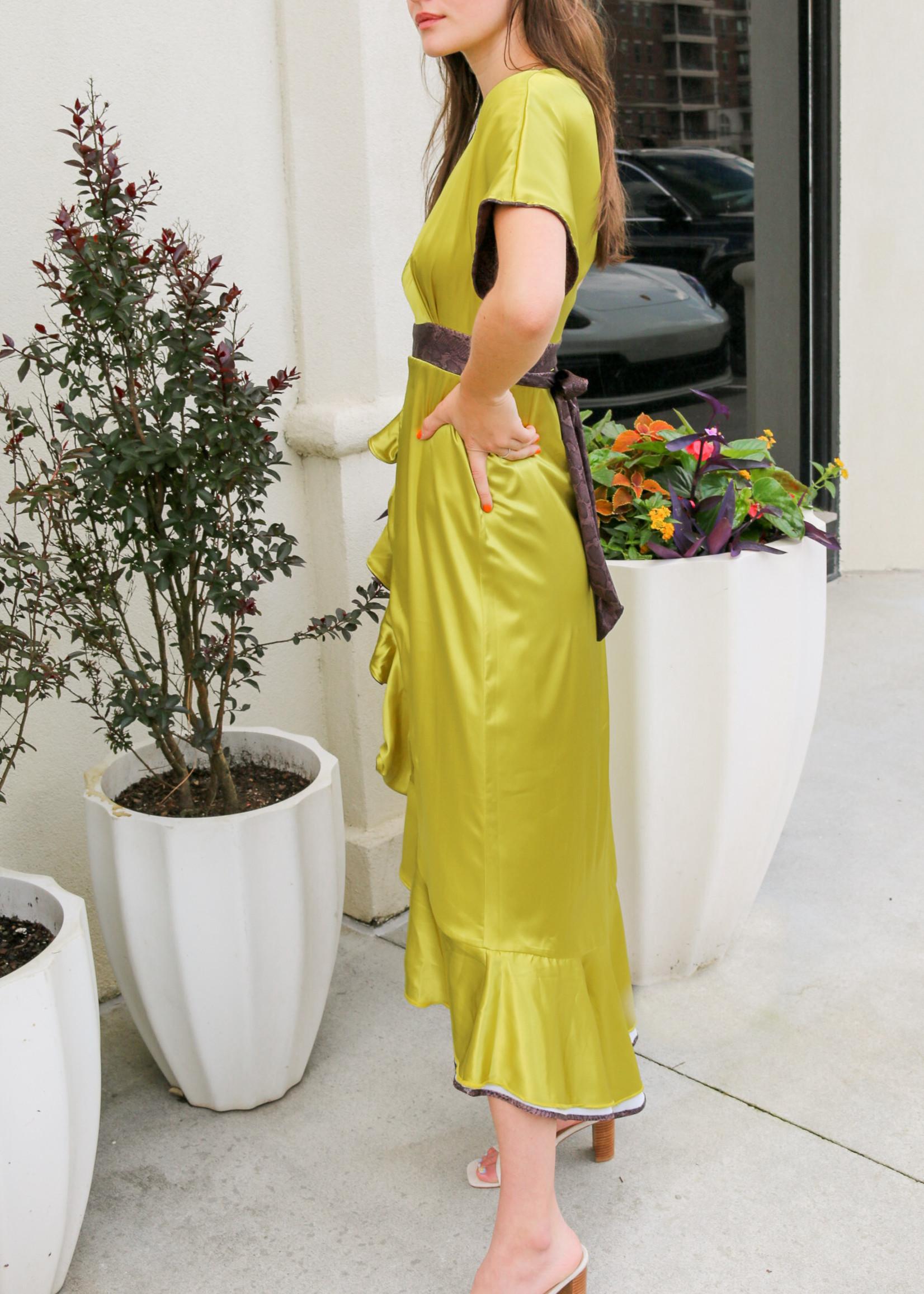 House of Wallace Jennifer Printed Wrap Dress