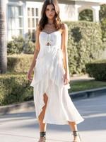 Saltwater Luxe White Midi Dress