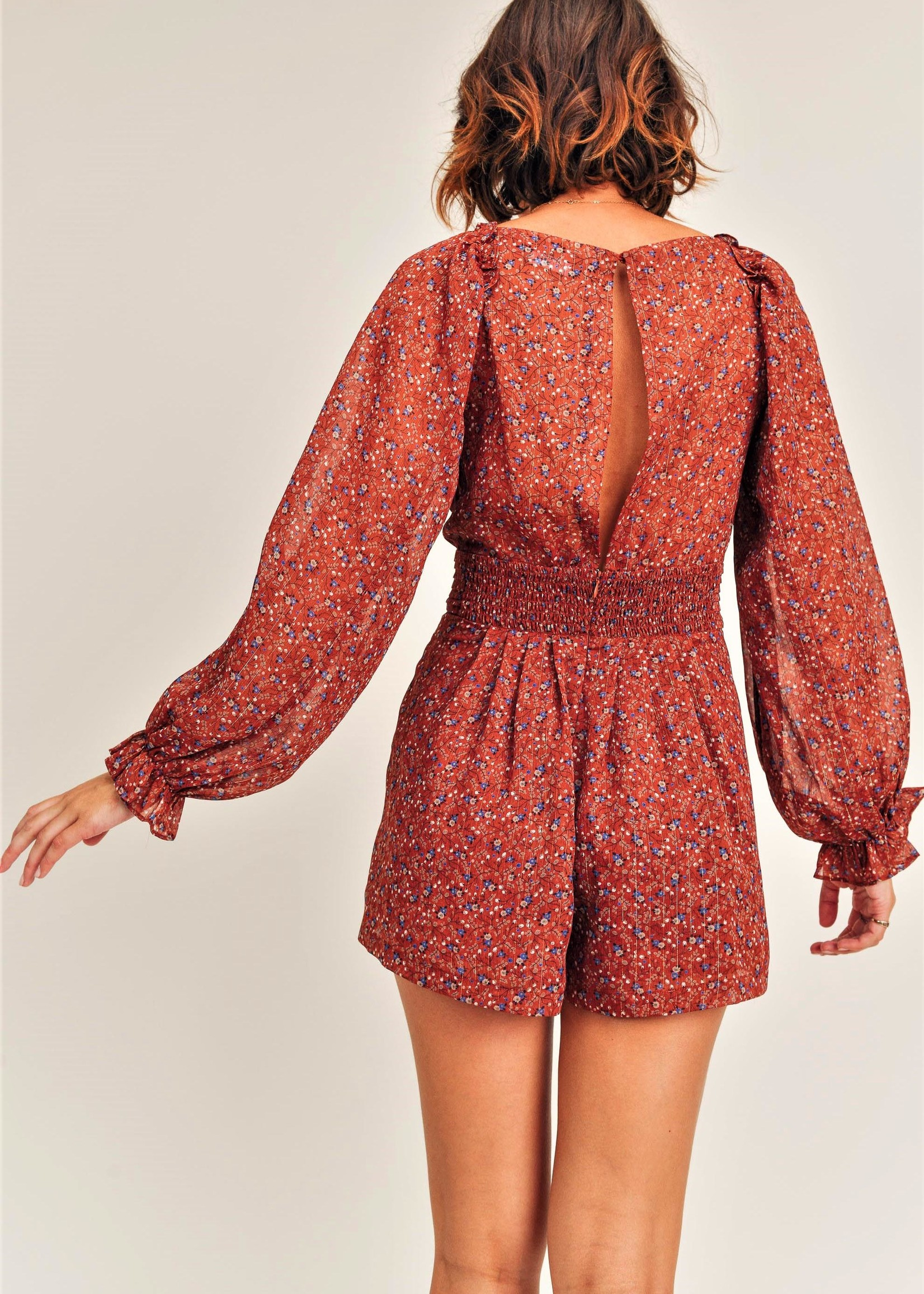 Reset by jane Fall Floral Romper