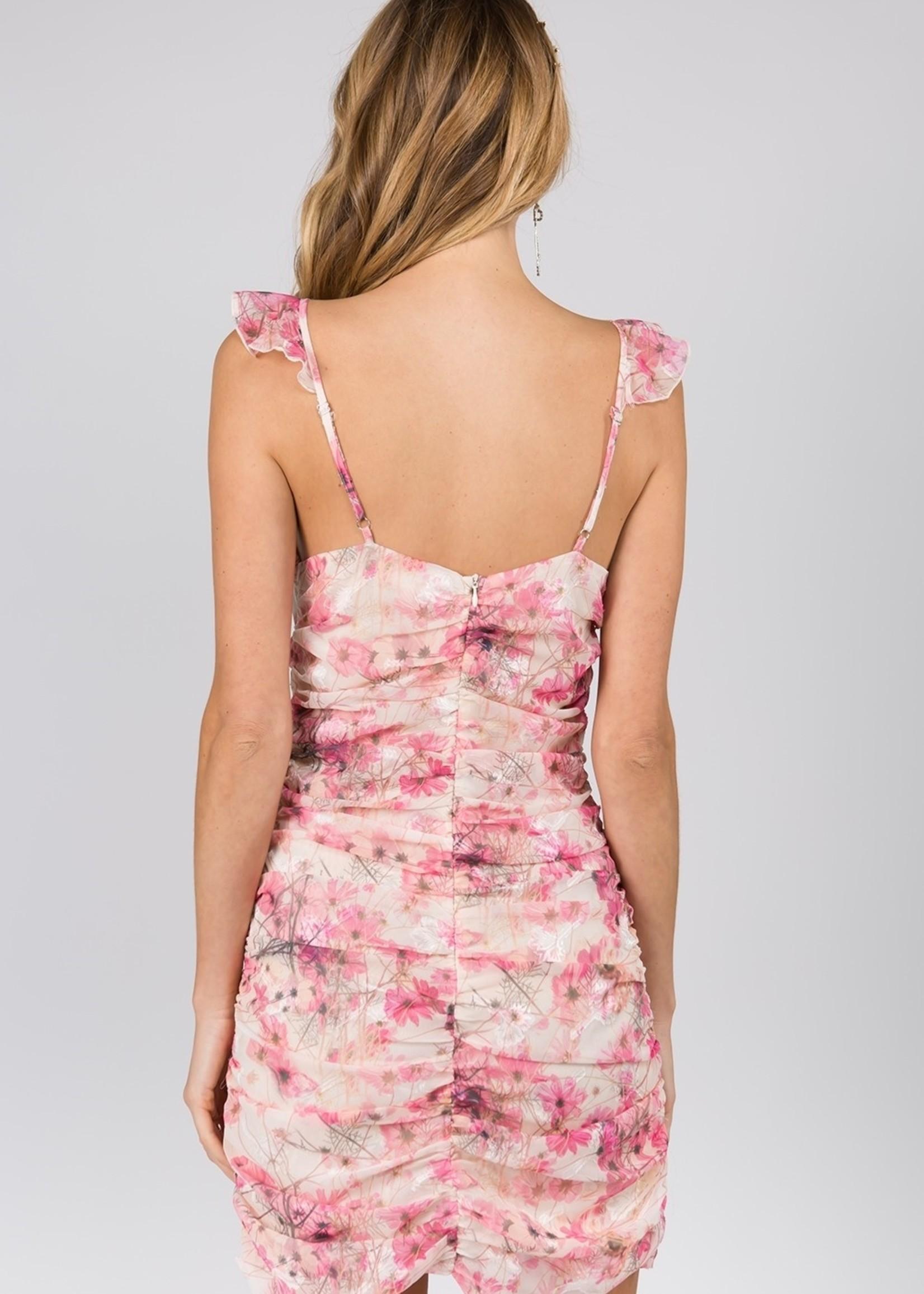 Fanco Smocked SL Mini Dress