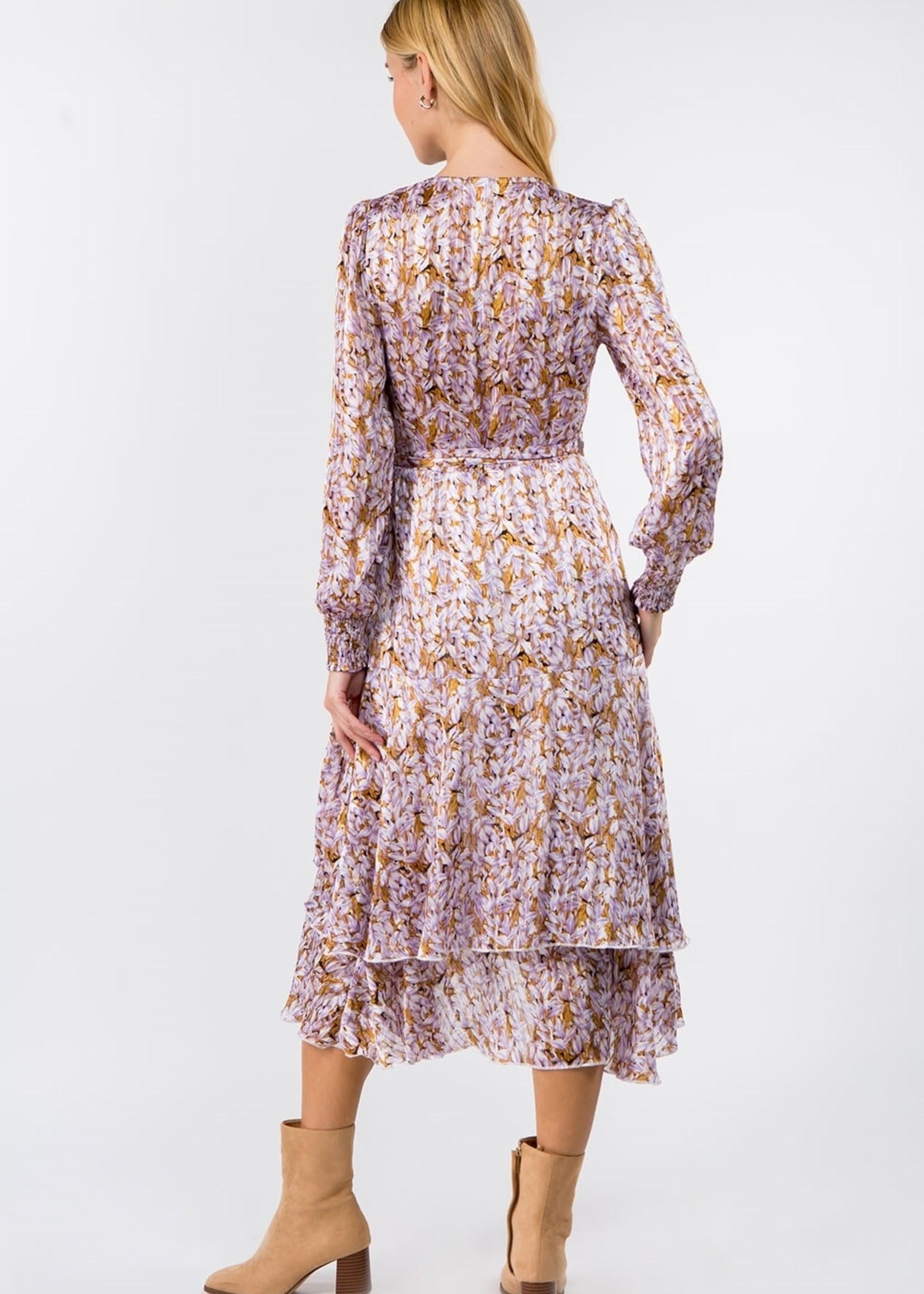 Fanco Floral Chiffon Midi Dress