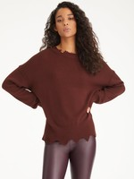 525 America Distressed Toasted Almond Pullover Sweater